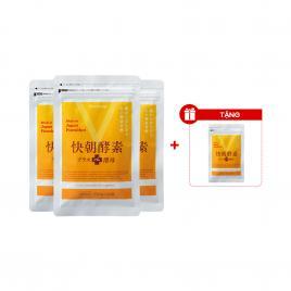 Combo 3 gói viên uống giảm cân Enzyme Fucoidan Kaicho 124 viên