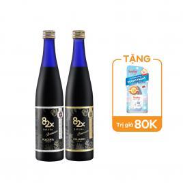 Bộ đôi nước uống Collagen và tinh chất nhau thai Placenta Mashiro 82x Sakura New 500ml