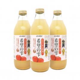 Combo 3 chai nước ép táo Kibounoshizuku (100% nước ép táo) 1000ml