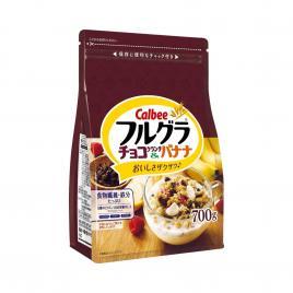 Ngũ cốc chuối và socola Calbee Full Grain Chocolate Crunch & Banana 700g