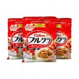 Combo 3 gói ngũ cốc trái cây Calbee Nhật Bản 700g (Date T11.21)