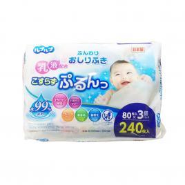 Set 3 gói khăn giấy ướt tinh khiết Nhật Bản Life do Plus (80 tờ x 3 gói)