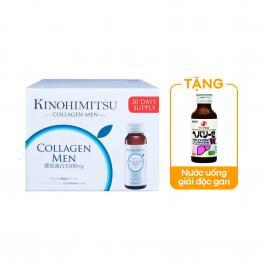 Nước uống đẹp da Kinohimitsu Collagen Men (Hộp 16 chai x 50 ml)