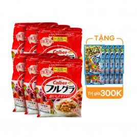 Combo 6 gói ngũ cốc trái cây Calbee Nhật Bản 700g (Date T11.21)