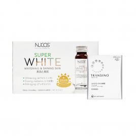 Bộ đôi trắng da ngừa nám Nucos Super White và viên uống Transino