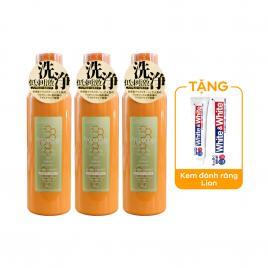 Combo 3 chai nước súc miệng Propolinse 600ml (Màu cam)