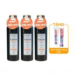 Combo 3 chai nước súc miệng Propolinse 600ml (Màu đen)