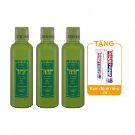 Combo 3 chai nước súc miệng Propolinse 600ml (Màu xanh)