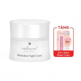Kem dưỡng da ban đêm Sakura Restorative Night Cream 30g