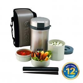 Hộp đựng cơm giữ nhiệt 3 ngăn Tiger LWU-B200 1.41L