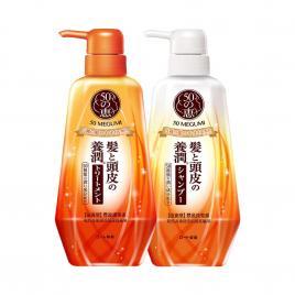 Bộ đôi gội xả dưỡng tóc ẩm và mềm mượt 50 Megumi Smooth And Moist 400ml