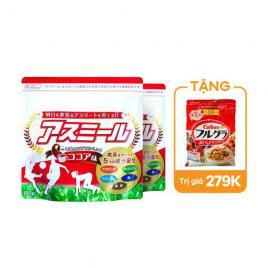 Combo 2 gói sữa tăng chiều cao dành cho bé Ichiban Boshi Asumiru 180g (Vị cacao)