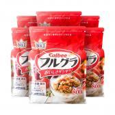 Combo 6 gói Ngũ cốc trái cây Calbee Nhật Bản 800g