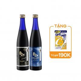 Bộ đôi nước uống Collagen Classic và tinh chất nhau thai Placenta Mashiro 82x Sakura 500ml