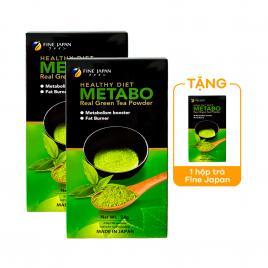 Combo 2 hộp trà hỗ trợ giảm cân Fine Japan Metabo Green Tea (2 hộp x 30 gói)
