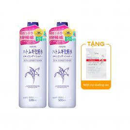 Combo 2 chai nước hoa hồng ý dĩ Kumano Naturie Hatomugi Skin Conditioner 500ml