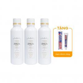 Combo 3 chai nước súc miệng làm trắng răng Propolinse Dental 600ml (Màu trắng)