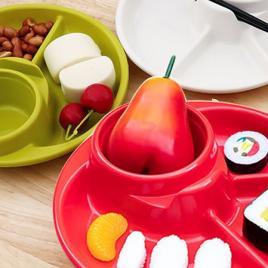 Khay ăn 3 ngăn Nhật Bản Inomata (Màu đỏ)